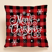 Christmas Plaid Cushion Cover Without Filler