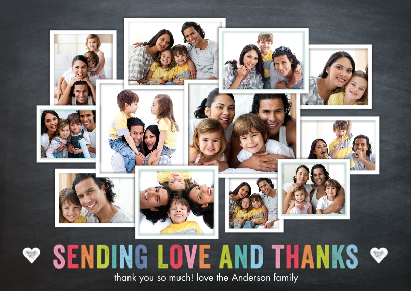 Thank You Cards Flat Matte Photo Paper Cards with Envelopes, 5x7, Card & Stationery -Thank You Memories Collage