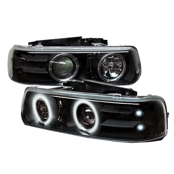 Spyder CCFL LED Black Projector HeadLights Chevrolet Suburban 1500 2500 00-06 Chevrolet Tahoe 00-06