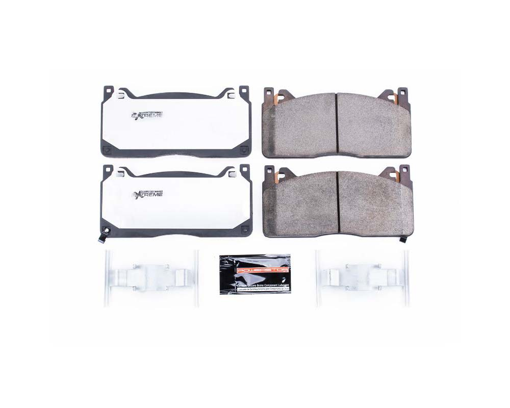 Power Stop Z26-1853 Z26 Extreme Street Brake Pads w/Hardware Front Ford Mustang 2016-2019