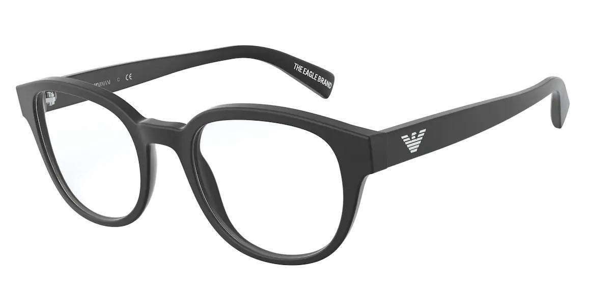 Emporio Armani EA3161F Asian Fit 5042 Men's Glasses Black Size 53 - Free Lenses - HSA/FSA Insurance - Blue Light Block Available