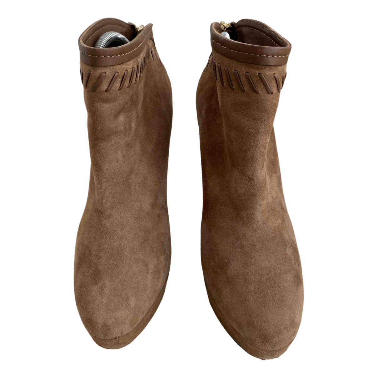 Jimmy Choo N Brown Suede Ankle boots for Women 35.5 EU