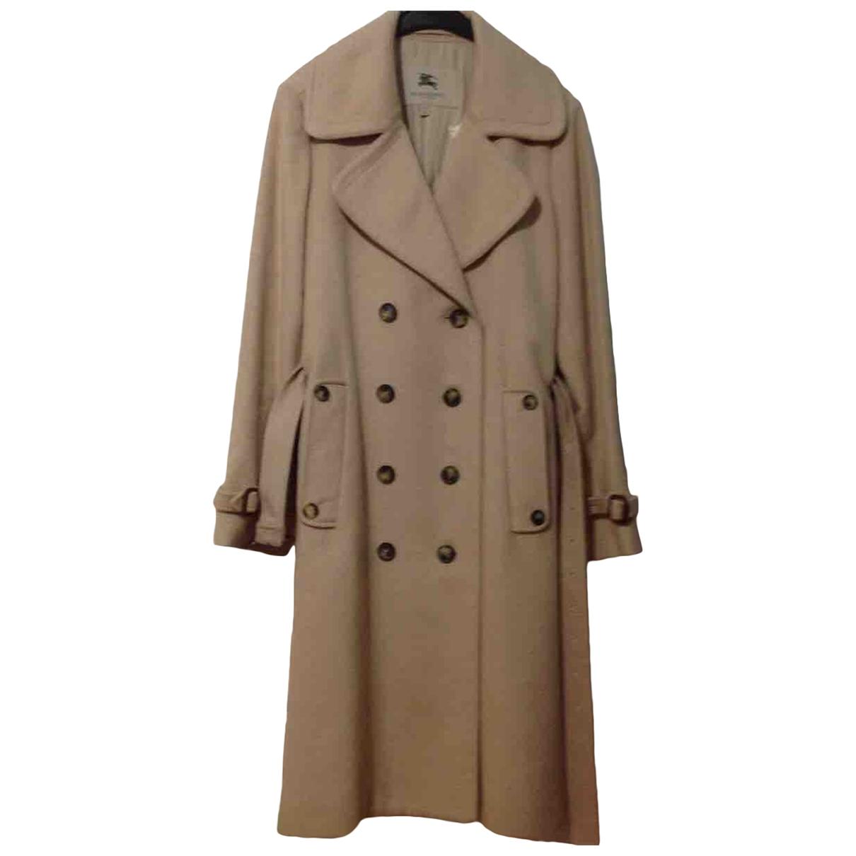 Burberry \N Camel Cashmere coat for Women 12 UK