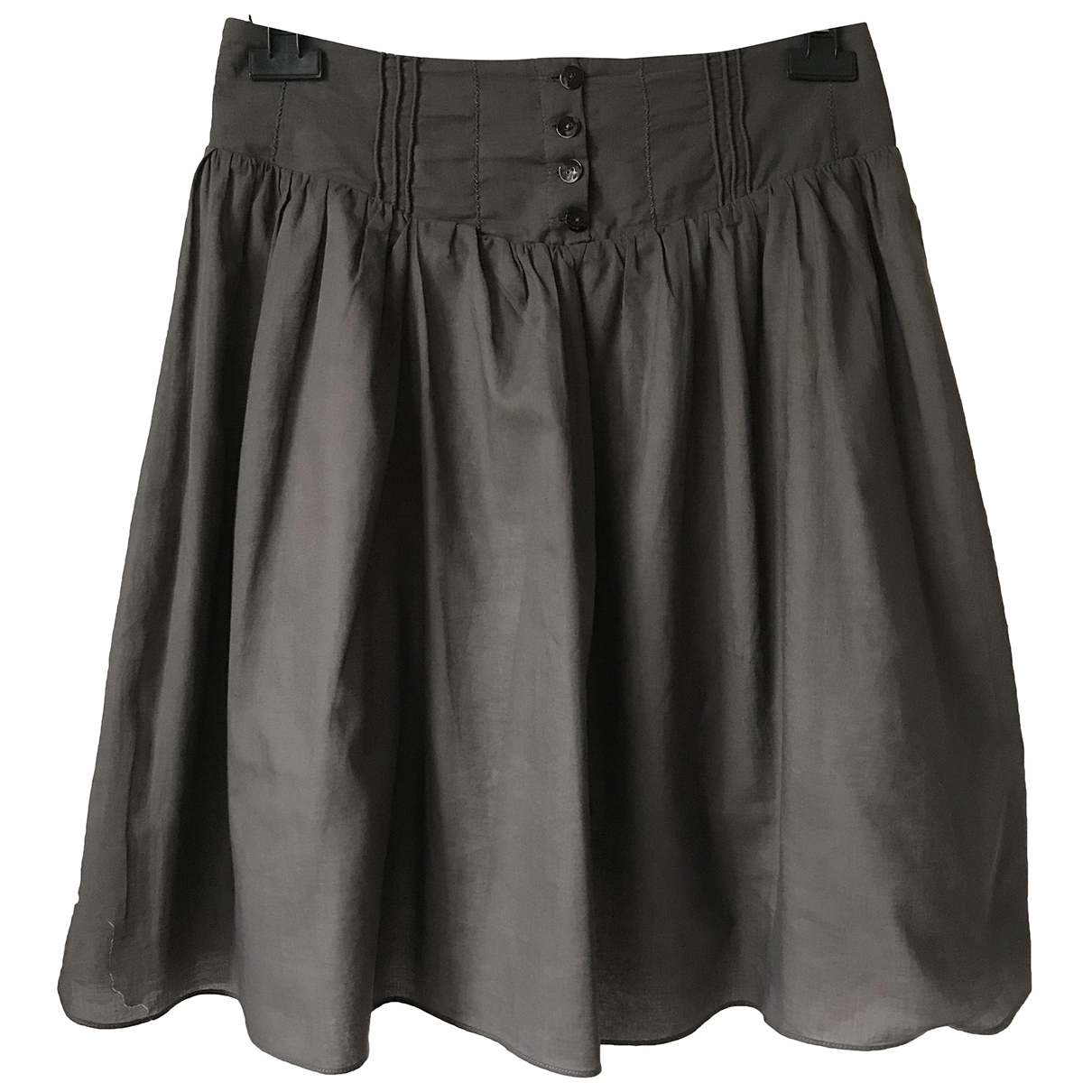 Non Signé / Unsigned \N Grey Cotton skirt for Women 40 IT