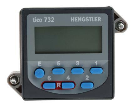 Hengstler TICO 732, 6 Digit, LCD, Digital Counter, 5kHz, 12 → 24 V dc