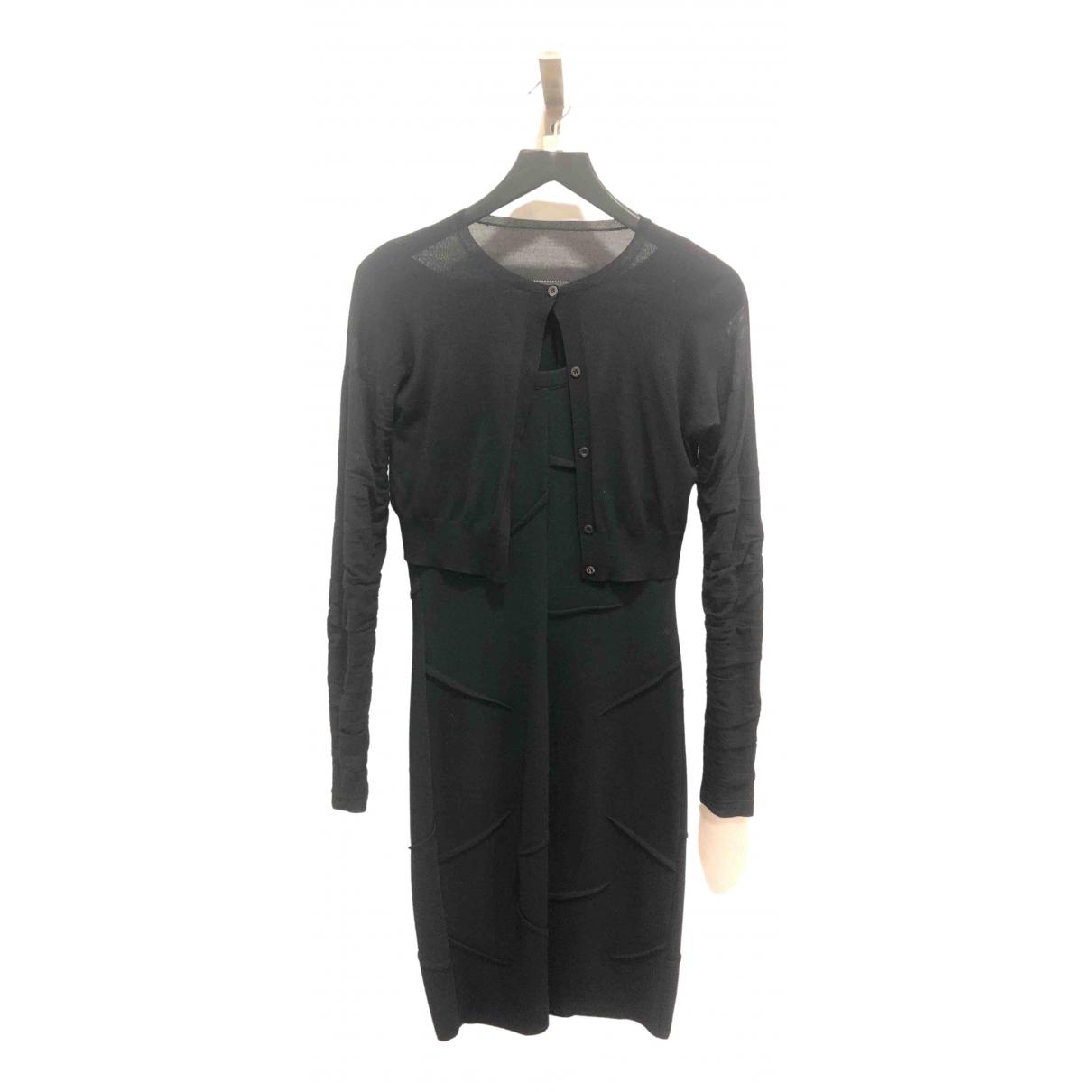 Prada \N Kleid in  Schwarz Wolle