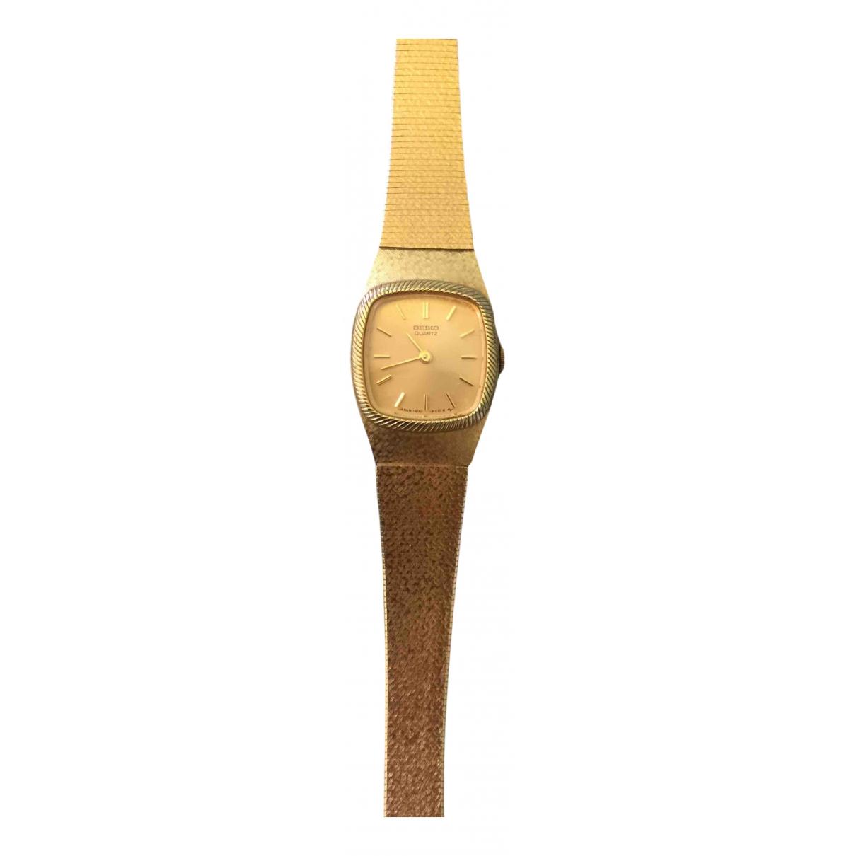 Seiko - Montre   pour femme en plaque or - dore