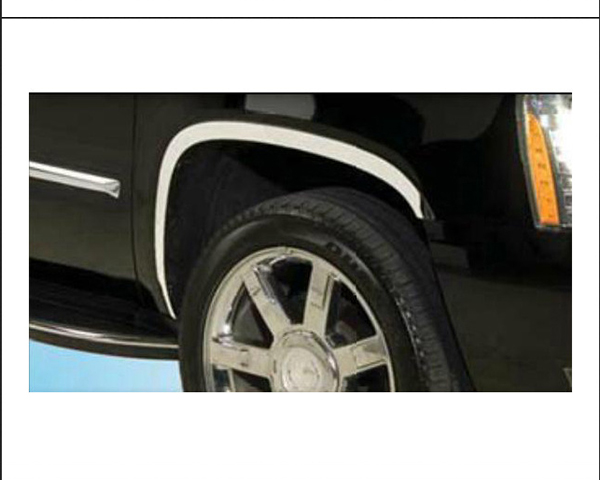 Quality Automotive Accessories 4-Piece Stainless Steel Wheel Well Fender Cadillac Escalade 2011