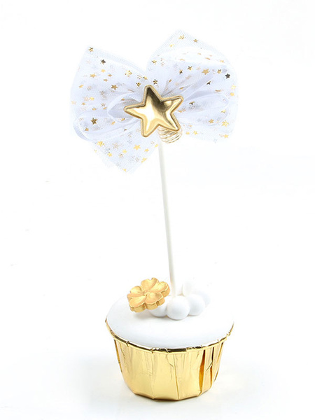 Milanoo Star Bows Cake Toppers Birthday Party Cupcake Decorations Halloween