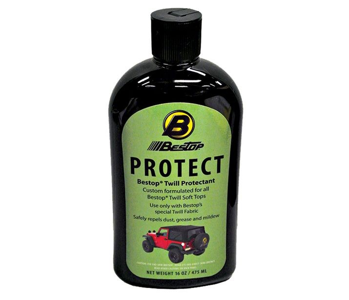 Bestop 11217-00 Black Twill Protectant For Your Black Twill Soft Tops 16oz Bottle Boxed