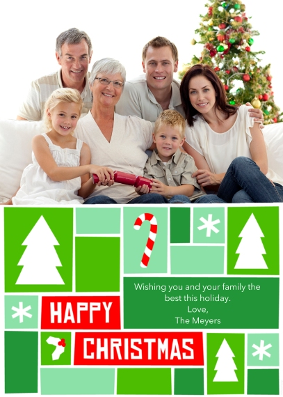 Christmas Photo Cards 5x7 Cards, Premium Cardstock 120lb, Card & Stationery -Happy Christmas