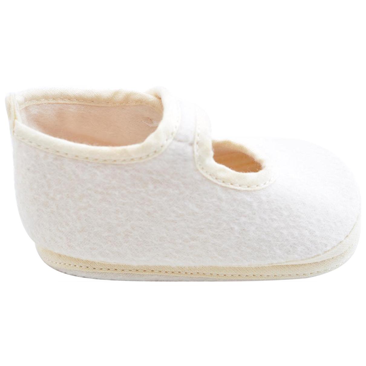 Hermès \N Ecru Cloth First shoes for Kids 20 EU