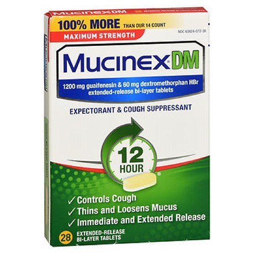 Mucinex Dm Expectorant Cough Suppressant Extended-Release Maximum Strength 28 tabs by Mucinex Dm