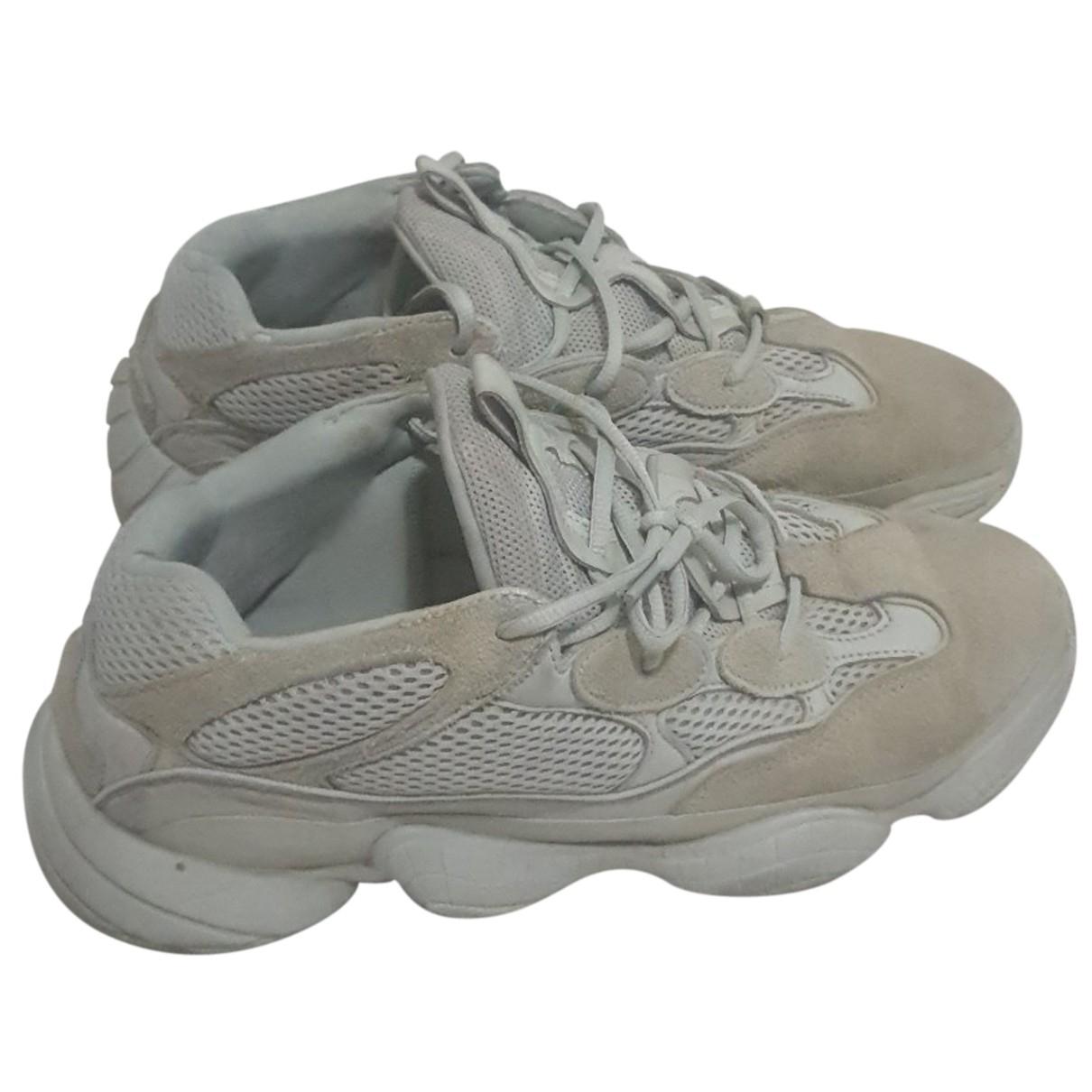 Yeezy X Adidas - Baskets 500 pour homme en suede - beige