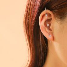 1pc Rhinestone Decor Earring