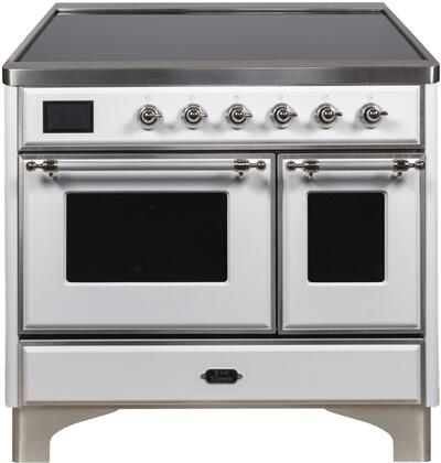 UMDI10NS3WHC 40 Majestic II Series Induction Range with 6 Elements  3.82 cu. ft. Total Oven Capacity  TFT Oven Control Display  Chrome Trim  in