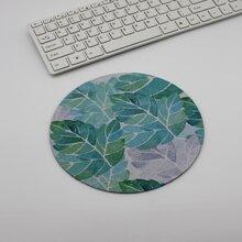1pc Leaf Print Mouse Pad