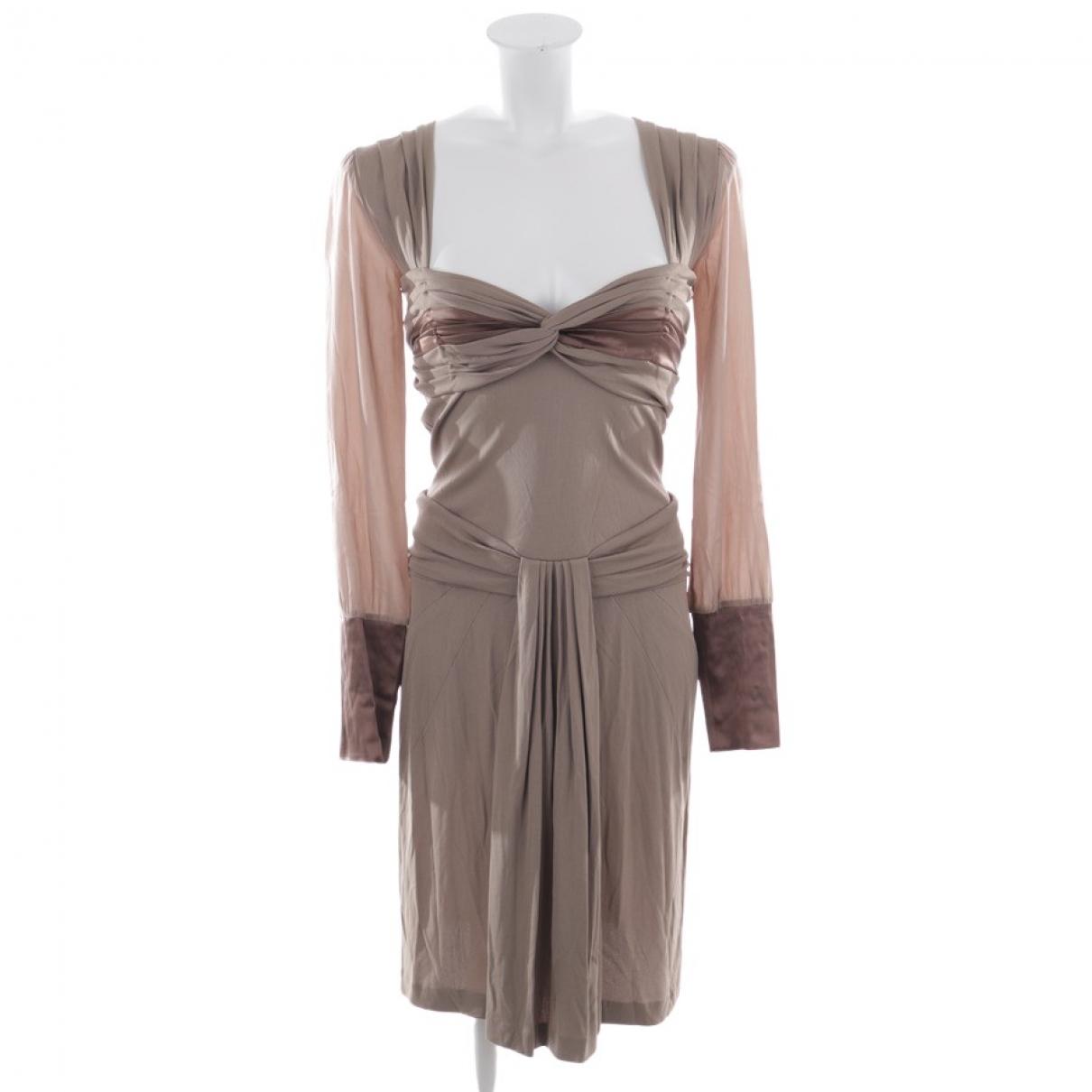 Blumarine \N Kleid in  Beige Leder