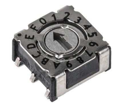 Hartmann 16 Way Surface Mount DIP Switch, Screwdriver Actuator (5)