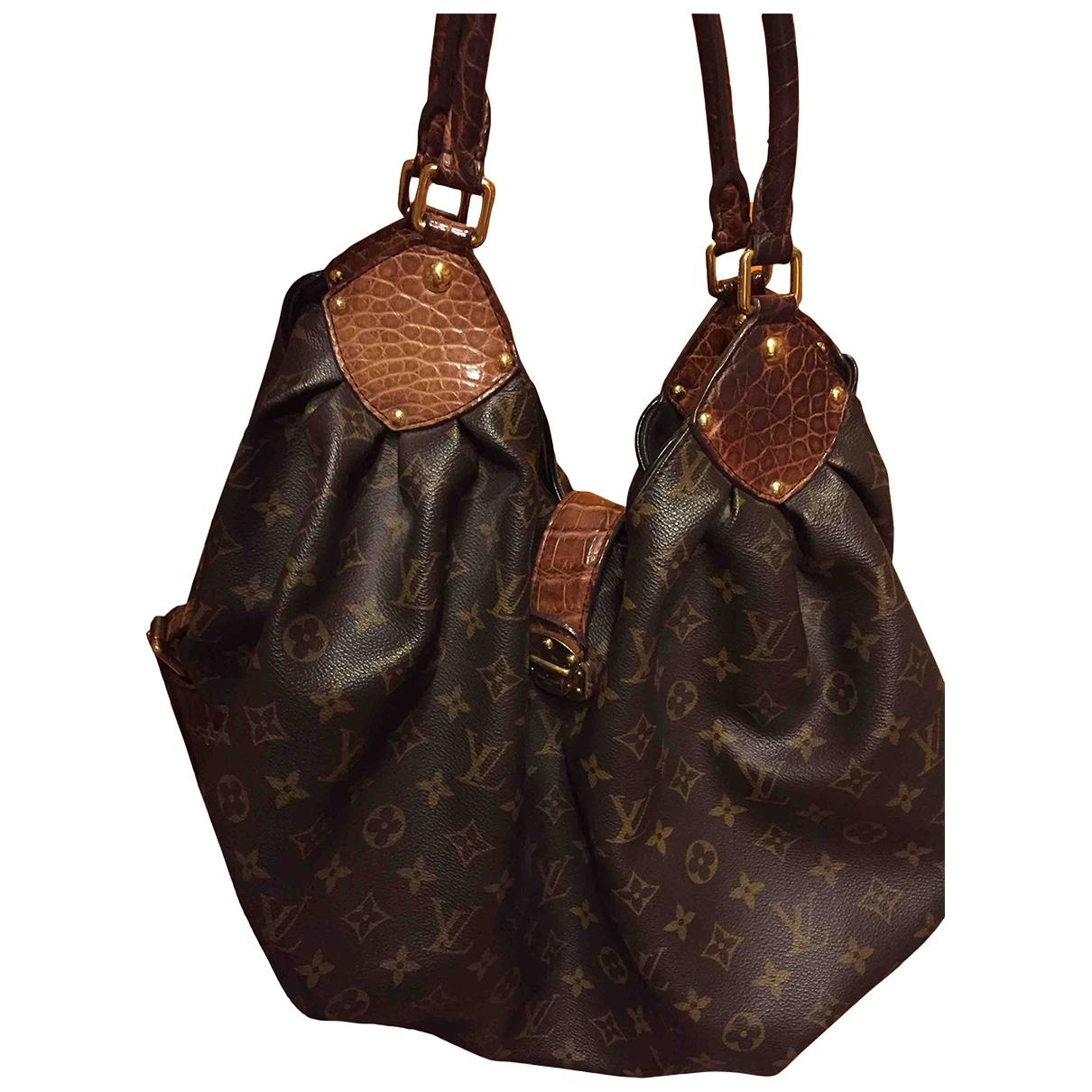 Louis Vuitton - Sac de voyage Mahina pour femme en cuir - marron