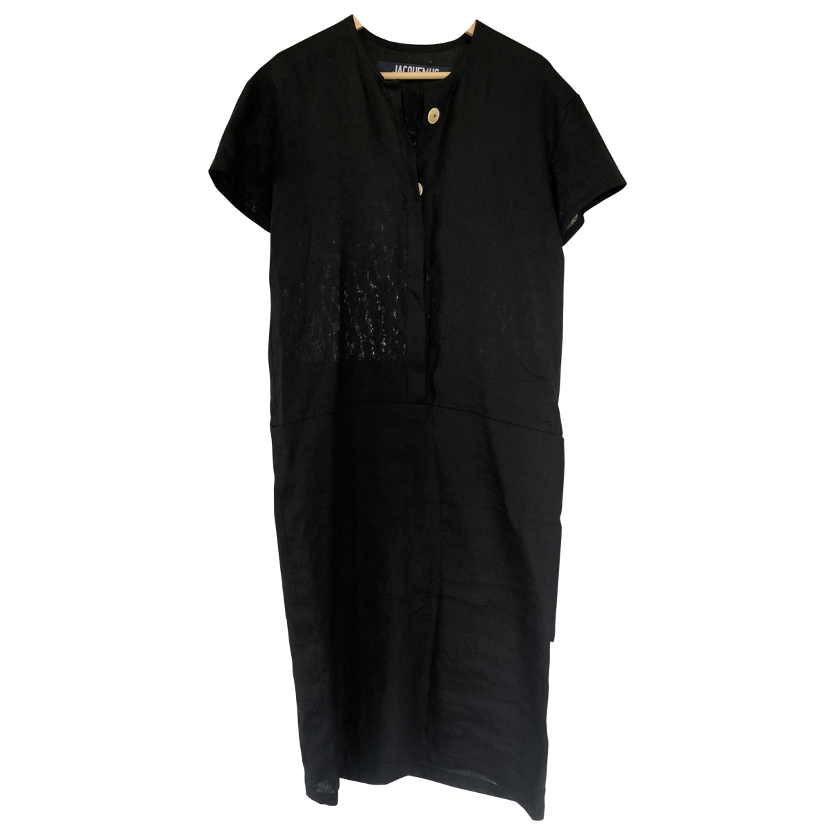 Jacquemus Le Chenil Black Linen dress for Women 36 FR