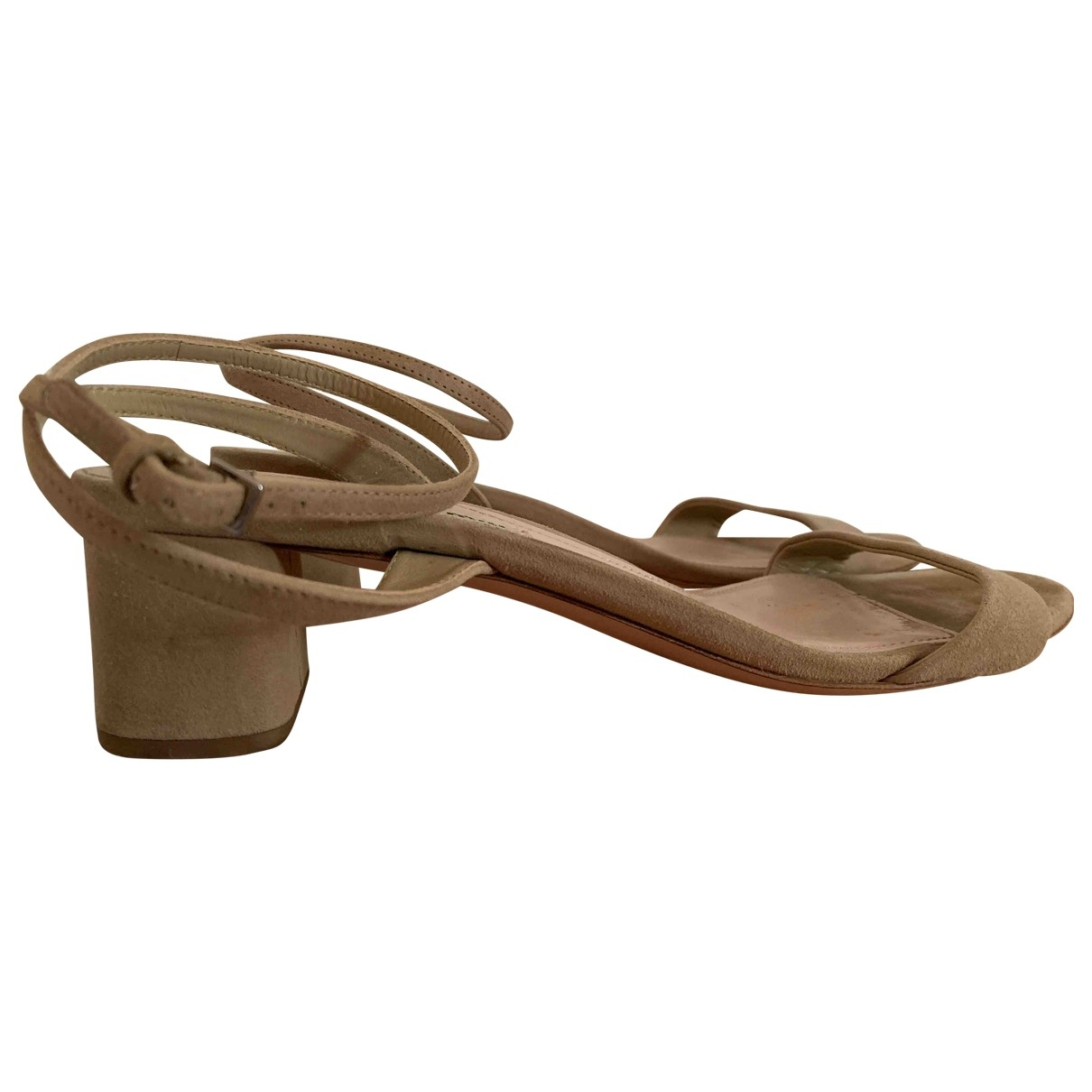 Miu Miu \N Beige Suede Sandals for Women 38 EU