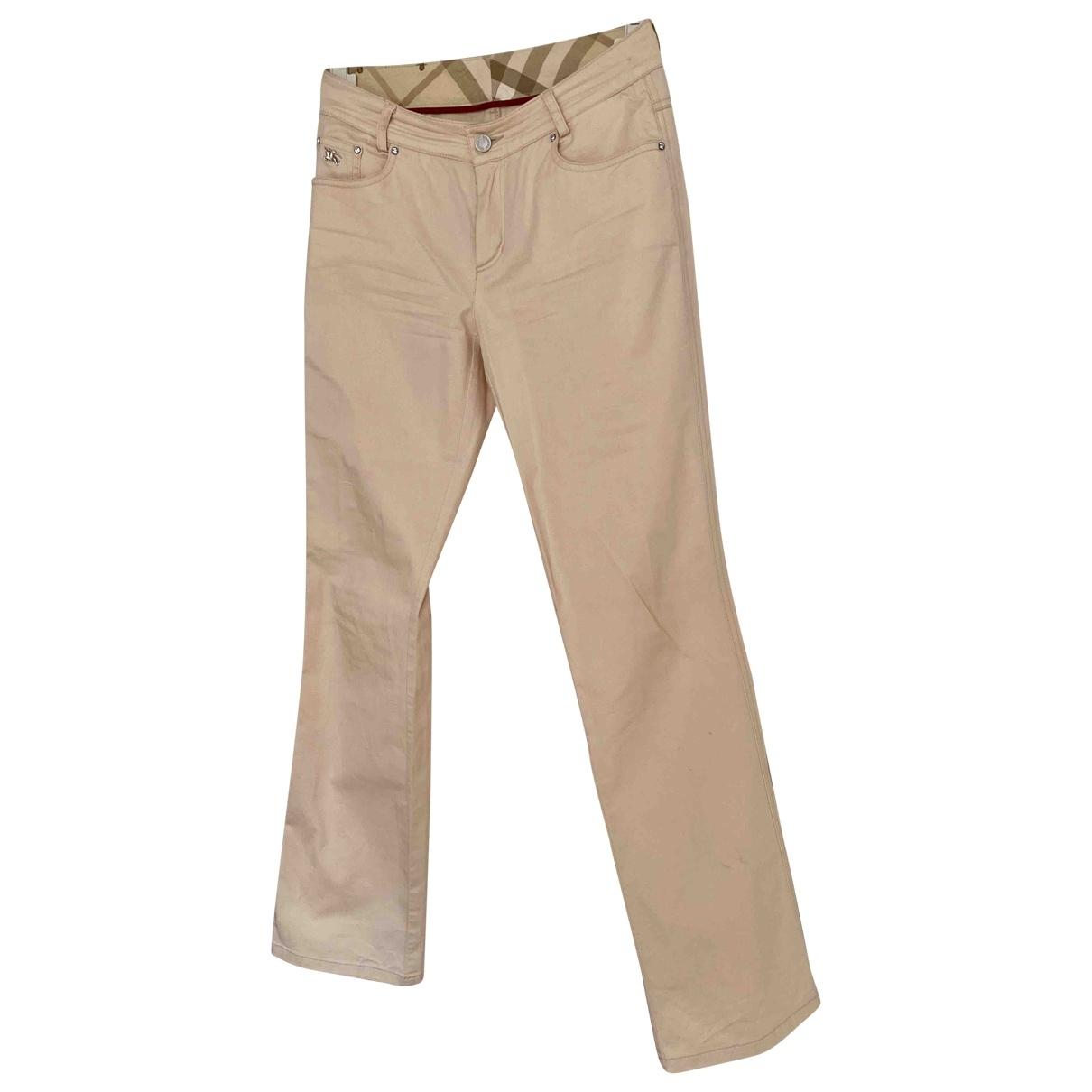 Burberry \N Beige Cotton Jeans for Women 38 FR