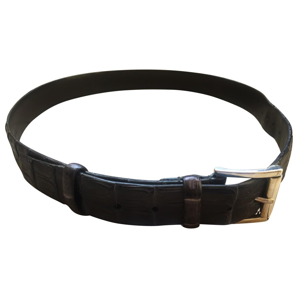Gianni Chiarini \N Blue Leather belt for Men 100 cm