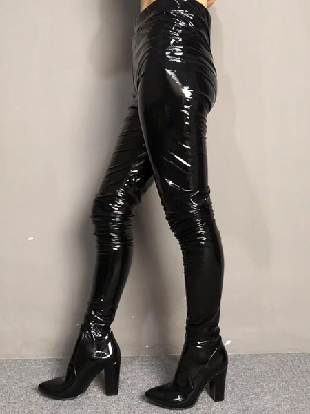 Milanoo Botas de pantalon de mujer Zapatos puntiagudos de punta estrecha Chunky Heel Rave Club Red Sexy