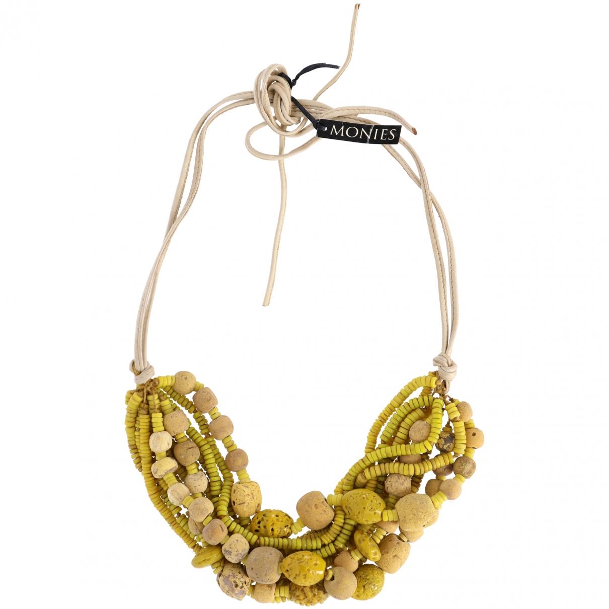 Monies - Collier   pour femme en perles - jaune