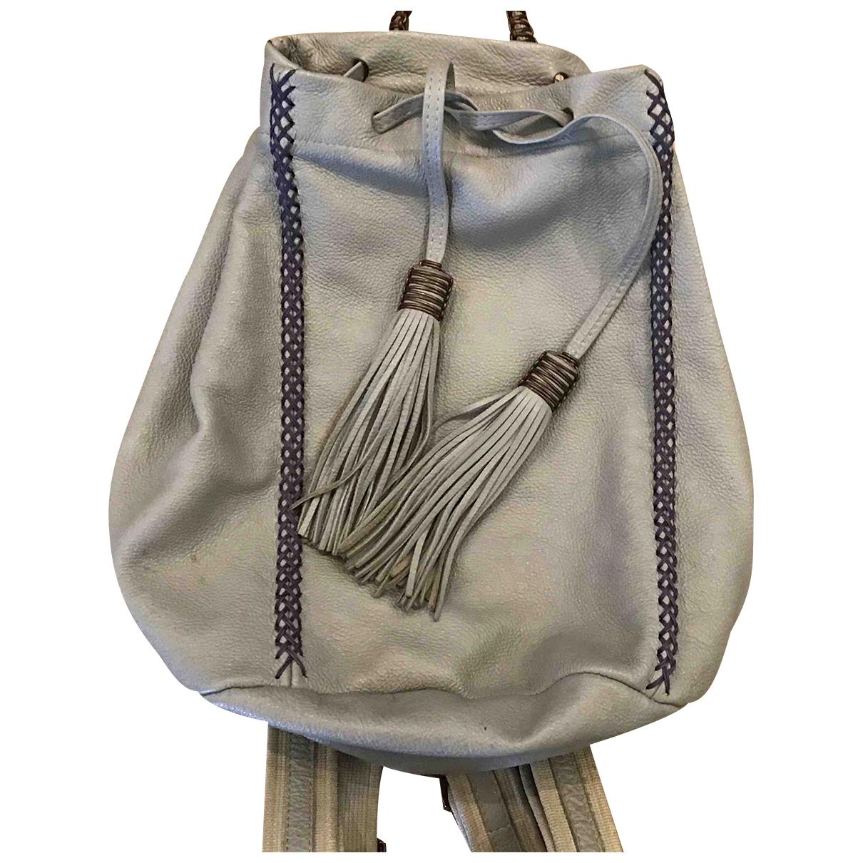 Callista Crafts - Sac a dos   pour femme en cuir - gris