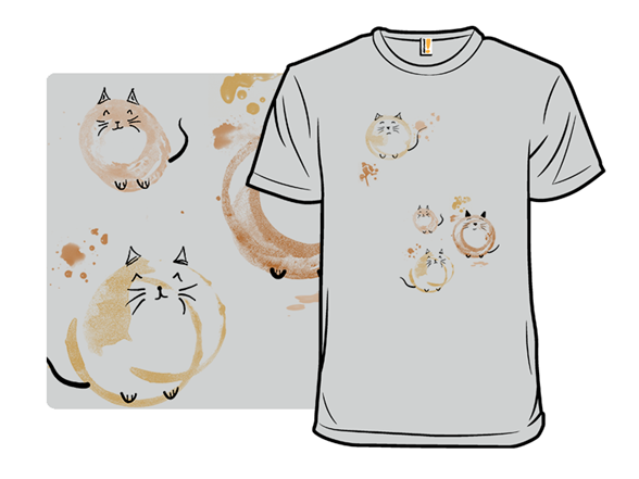 Coffee Stain Cats Remix T Shirt