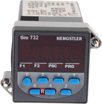 Hengstler TICO 732, 6 Digit, LCD, Digital Counter, 5kHz, 230 V ac