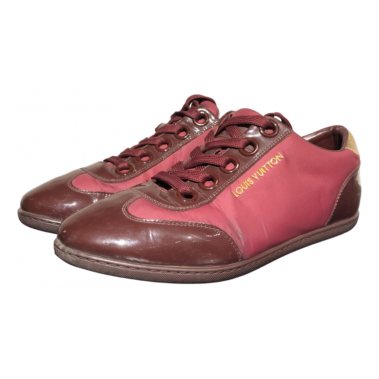 Louis Vuitton \N Burgundy Patent leather Trainers for Women 35.5 IT