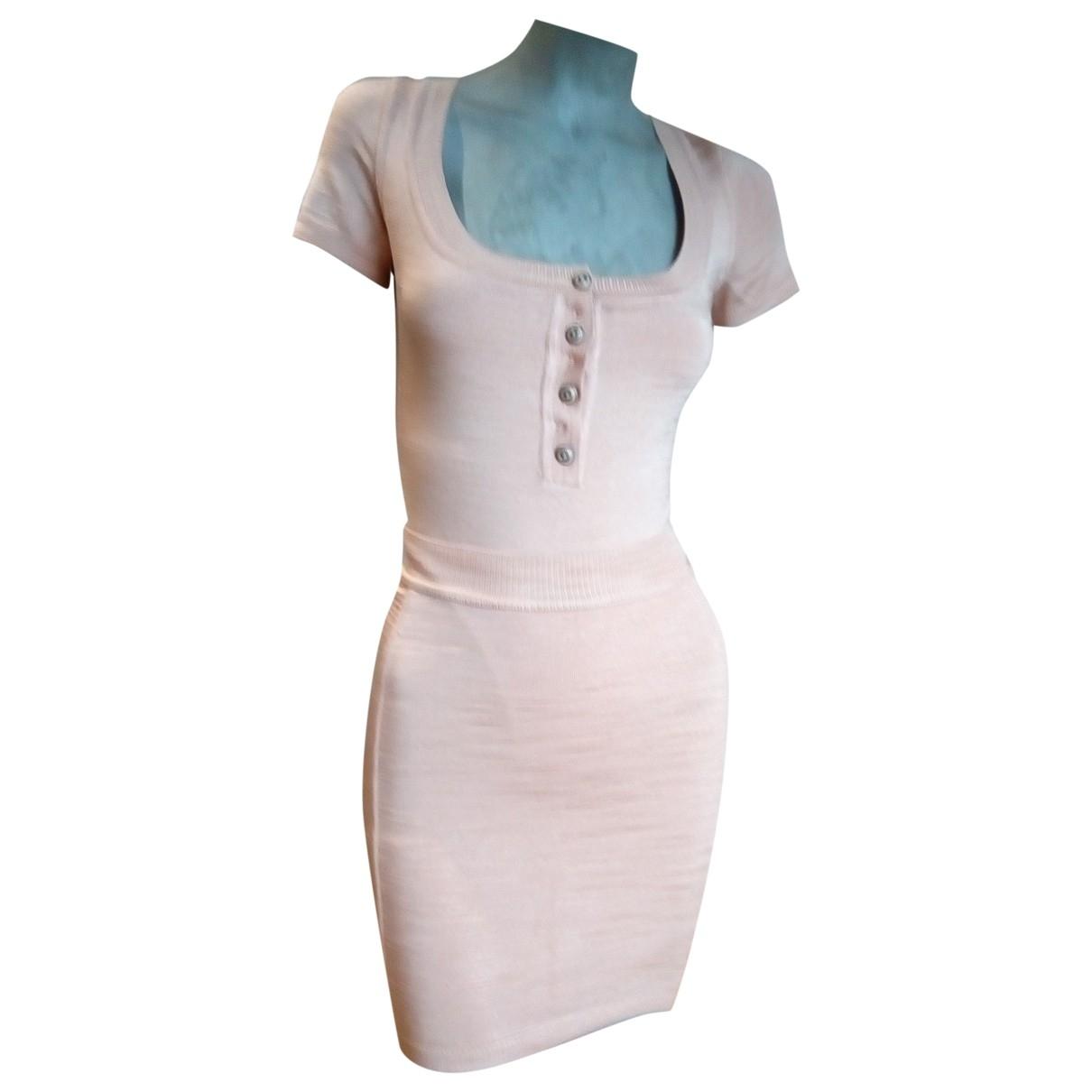 Alaia \N Kleid in  Rosa Viskose