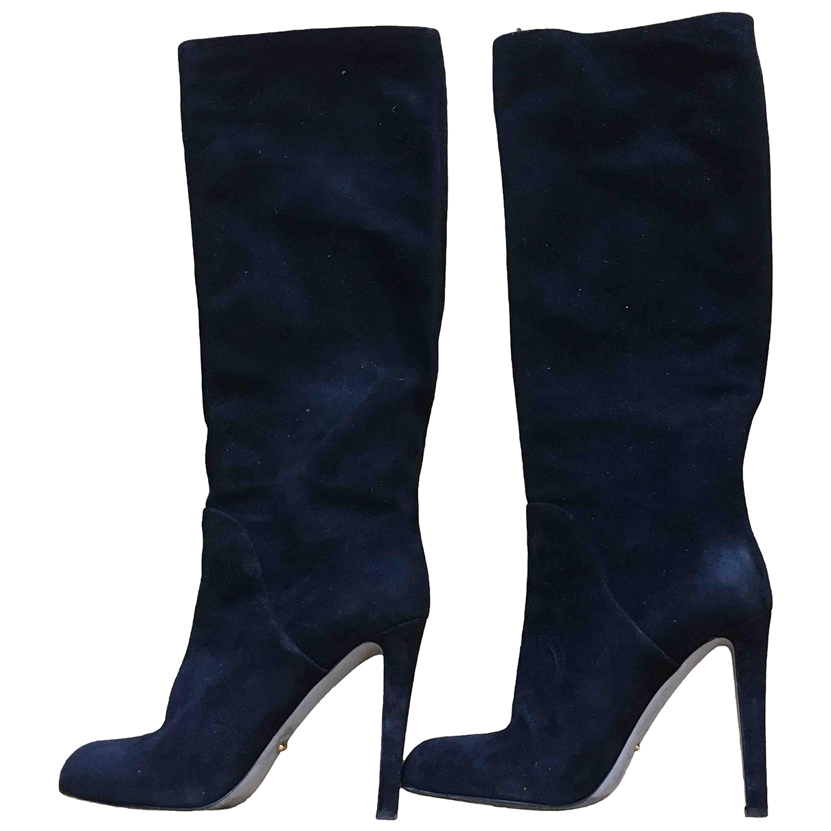 Sergio Rossi \N Black Suede Boots for Women 38.5 EU