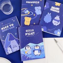 1 Pack Zufaelliges Notizbuch mit Karikatur Grafik Decke