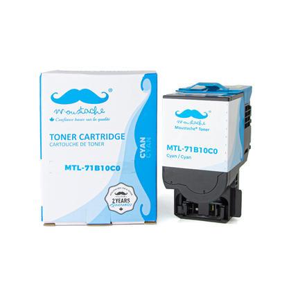 Lexmark 71B10C0 cartouche de toner compatible cyan - Moustache®