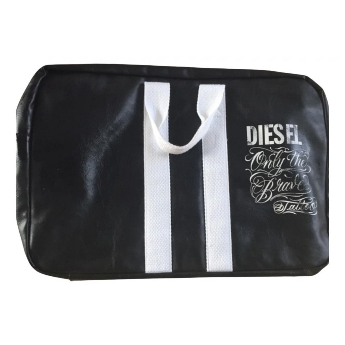 Diesel \N Handtasche in  Schwarz Polyester