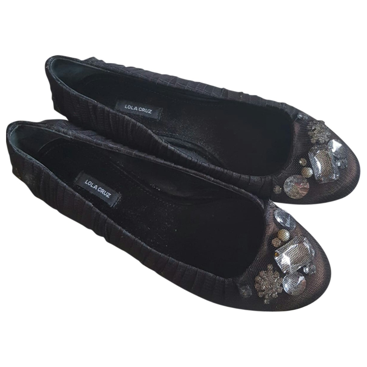 Lola Cruz \N Black Glitter Ballet flats for Women 37 EU