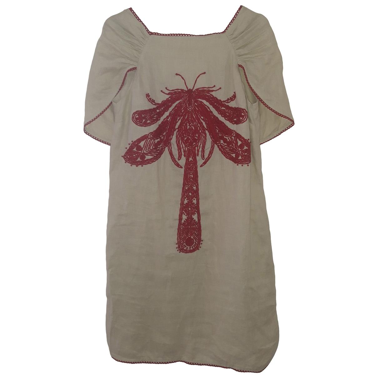 Hoss Intropia \N Kleid in  Beige Leinen