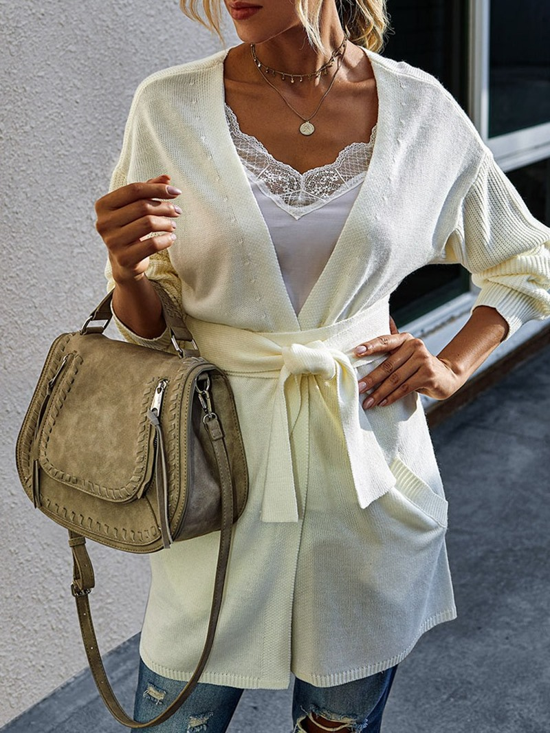 Ericdress Pocket Regular Thin Mid-Length Slim Sweater