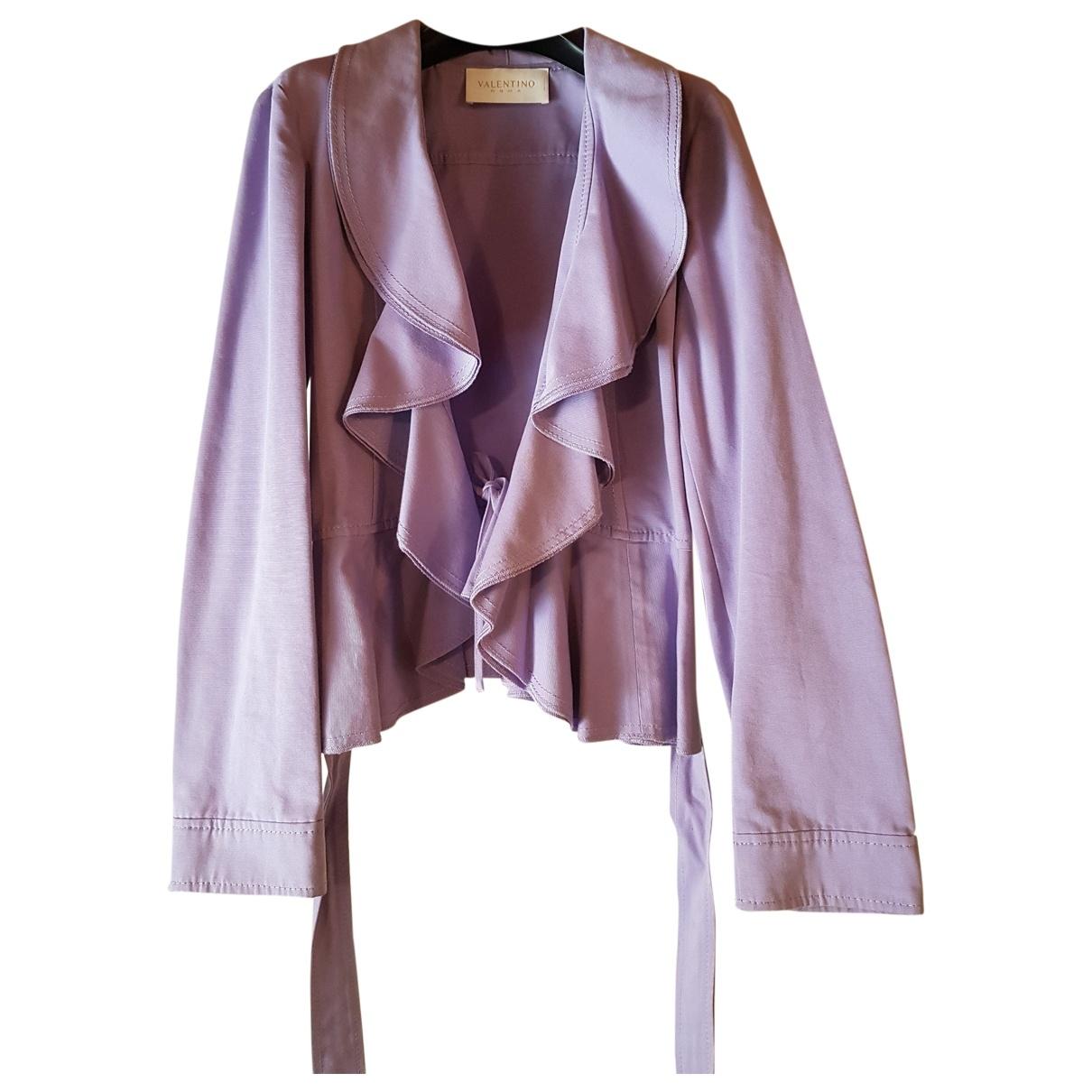 Valentino Garavani - Veste   pour femme en coton - violet