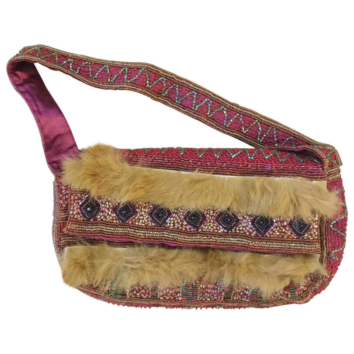 Zara \N Handtasche in  Rot Mit Pailletten
