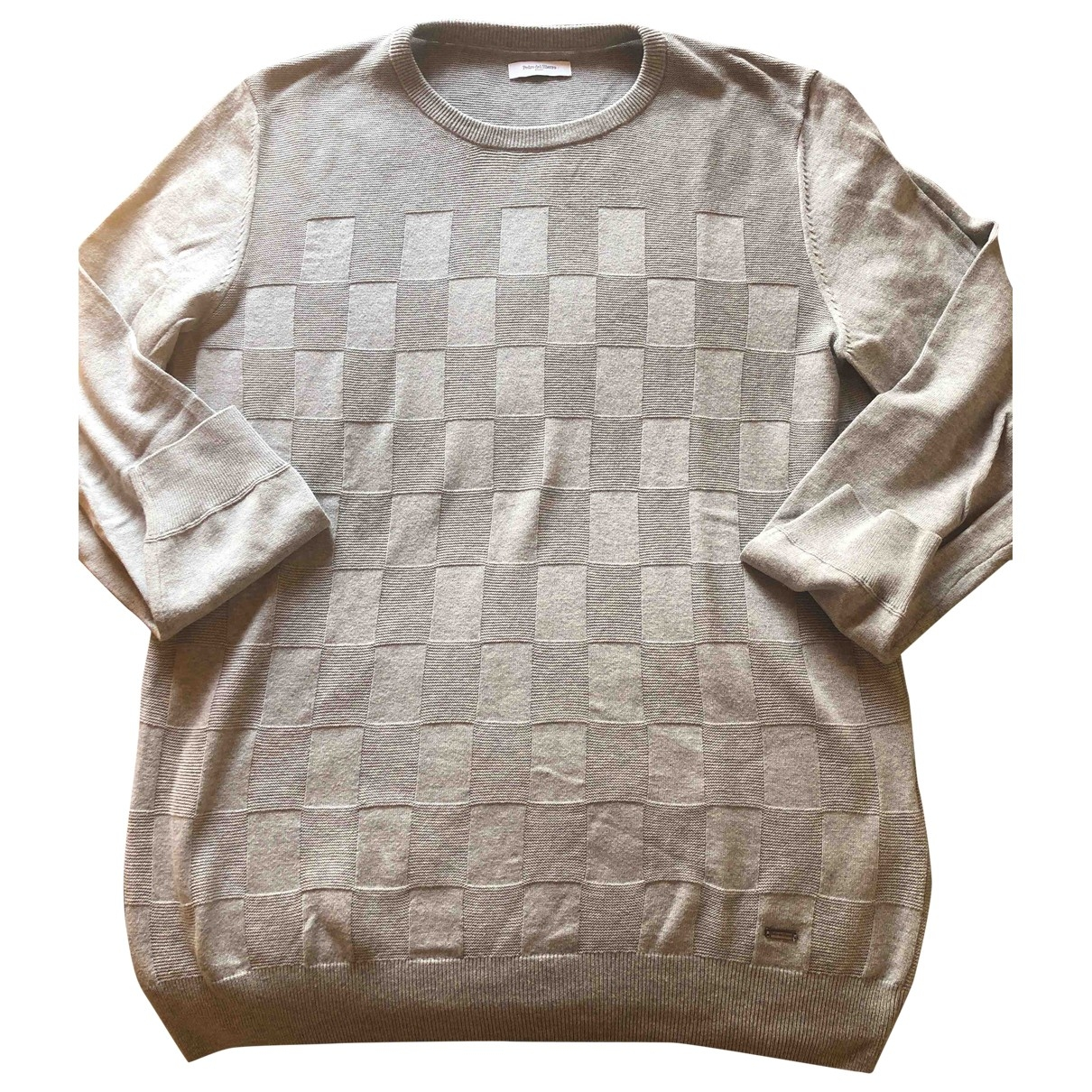 Pedro Del Hierro \N Pullover.Westen.Sweatshirts  in  Grau Baumwolle