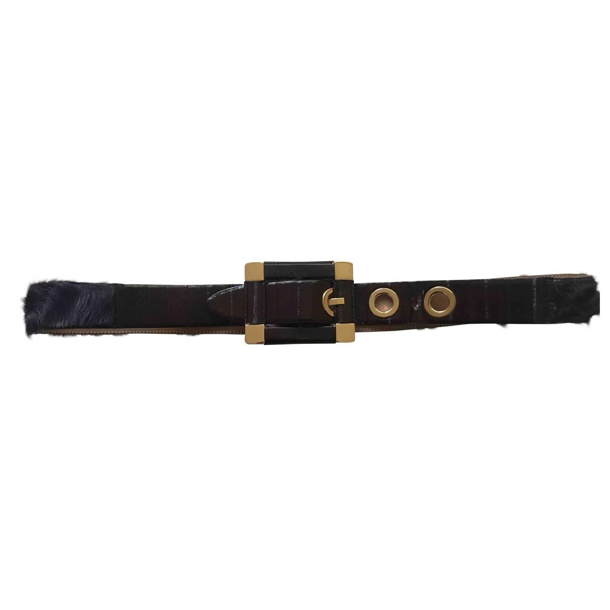 Dolce & Gabbana \N Purple Eel belt for Women M International
