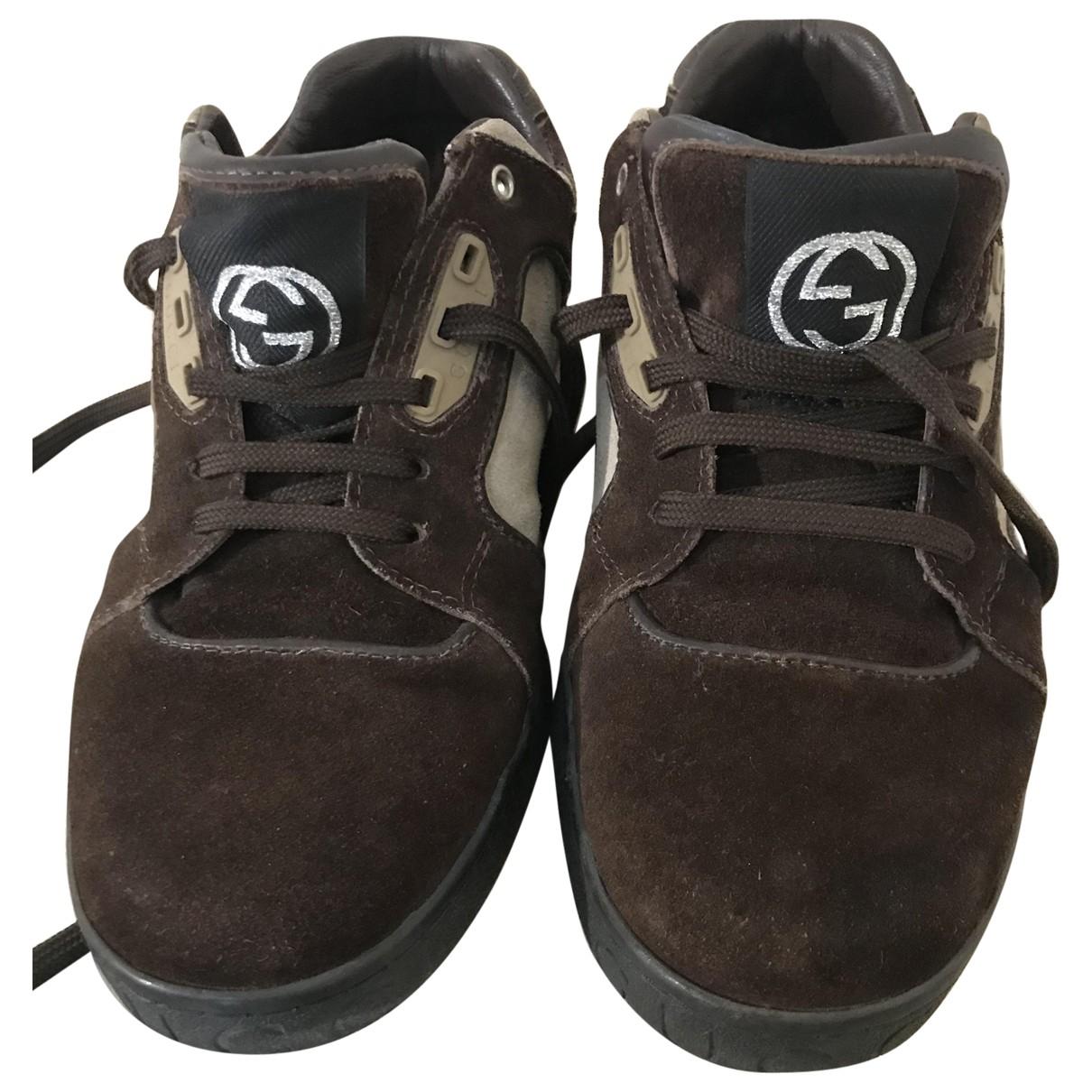 Gucci \N Sneakers in  Beige Veloursleder