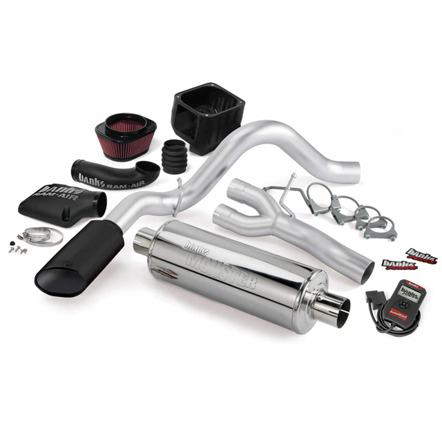 Stinger Bundle Power System W/Single Exit Exhaust Black Tip 07-08 Chevy 6.0L Vortex Max CCSB Banks Power 48042-B