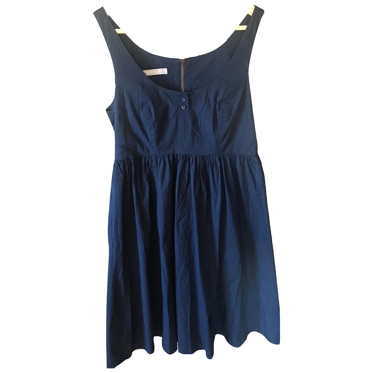 Stefanel N Blue Cotton dress for Women 42 IT