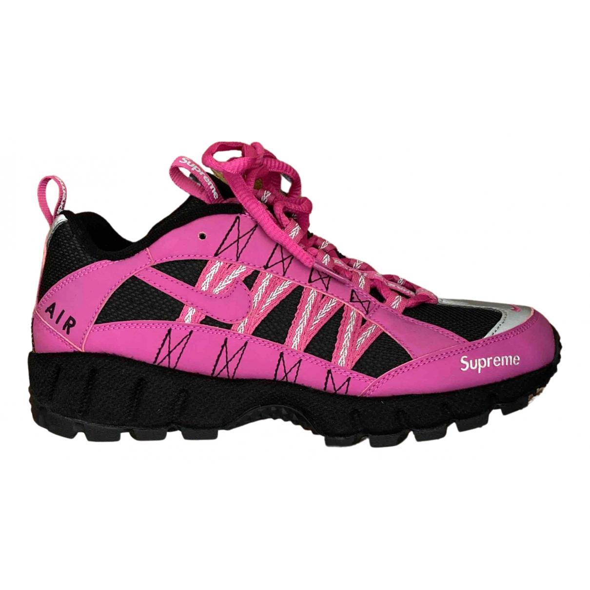 Nike X Supreme - Baskets   pour homme en toile - rose